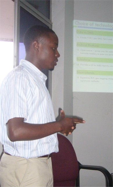 Eisah Mayanja, CKW Senior Application Analyst Presents at the MomoKla Peer Awards Contest